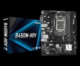 ASRock B460M-HDV Micro-ATX Motherboard: B460 Socket 1200 For 10th Gen Intel Processors 2x DDR4, 4x SATA 6Gbps, 1x M.2 (B460M-HDV)