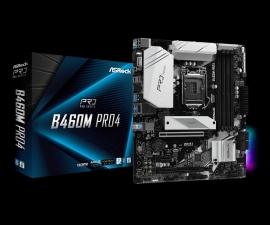 ASRock B460M PRO4 Micro-ATX Motherboard: B460 Socket 1200 For 10th Gen Intel Processors 4x DDR4, 6x SATA 6Gbps, 2x M.2 (B460M PRO4)