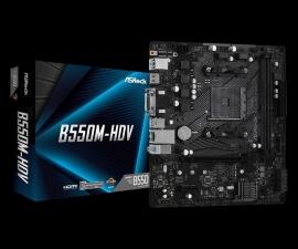 ASRock B550M-HDV MB B550 Micro-ATX: AM4 Socket For 3rd Gen AMD Ryzen Processors Hyper M.2, 2x DDR4, Gigabit LAN, 4x SATA 6Gbps, 1 PCIe 4.0 x16, 1 PCIe 3.0 x1 (B550M-HDV)