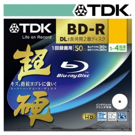 Tdk 50gb 4x Speed Bd-r Blu-ray Double Layer Recordable Disk 1pcs Jewel Case Pack Bmdtdkbd-r50jc-4x