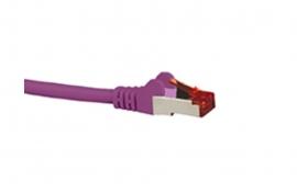 Hypertec Cat6A Shielded Cable 5M Purple Color 10Gbe Rj45 Ethernet Network Lan S/ Ftp Copper Cord