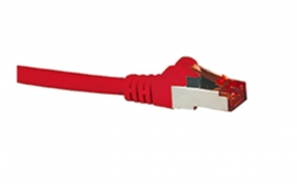 Hypertec Cat6A Shielded Cable 5M Red Color 10Gbe Rj45 Ethernet Network Lan S/ Ftp Copper Cord 26Awg
