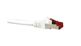 Hypertec Cat6A Shielded Cable 1M White Color 10Gbe Rj45 Ethernet Network Lan S/ Ftp Copper Cord