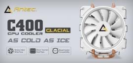 Antec C400 Glacial White Air Cpu Cooler 77 Cfm 8Mm Copper Base. 115X 2011 2066 Am3 Am3+ Fm1 Fm2