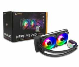 Antec Neptune 240 Argb Advanced Liquid Cpu Cooler Pwm Led Fan Ptfe Tubing Lga 115X 2011-V3 2066 Am4 Am3+ Fmx 3 Yrs Warranty Neptune-240Argb