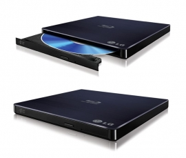 Lg 8x External Slim Usb 3d Blu-ray Drive Player Burner Rewriter Super Slot Load Multi Double-layer