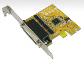Sunix 4 Port Pcie Serial Card Rs232 Plug N Play Full Height Sun-Ser6456A