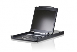 "Aten 8 Port Rackmount Usb-Ps/ 2 Single Rail 19"" Lcd Kvm. Cascadable (1-Level). Multi-Platform"