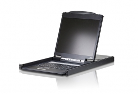 "Aten 16 Port Rackmount Usb-Ps/ 2 Single Rail 19"" Lcd Kvm Cascadable Multi-Platform Support Cl1316N-Ata-Au"