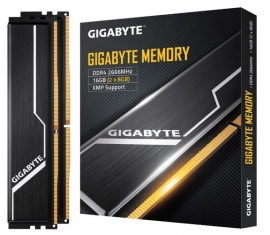 Gigabyte Gaming Memory 16Gb (2X8Gb) Ddr4 2666Mhz C16 1.2V 16-16-16-35 Xmp 2.0 Dual Channel Kit Aluminum Black Heatsinks Pc Desktop Ram Gp-Gr26C16S8K2Hu416