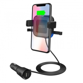 Mbeat Gorilla Power 10W Wireless Car Charger With 2.4A Usb Charging Air Vent Clip & Windshield