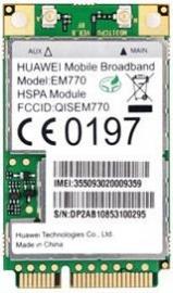 Huawei 3g Int Modem Em770 Internal Mini Pci Card Em770