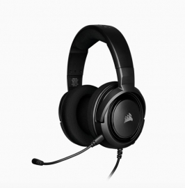 Corsair Hs35 Stereo Gaming Headset Discord Certified Clear Sound And Plush Memory Foam Carbon Ca-9011195-Ap