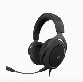 Corsair Hs60 Pro Black/Yellow Trim Stereo 7.1 Surround Gaming Headset Black With Yellow Trim. Ca-9011214-Ap