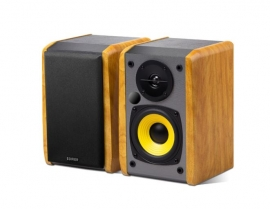 Edifier R1010Bt - 2.0 Lifestyle Bookshelf Bluetooth Studio Speakers Black - 3.5Mm Aux/ Rca/ Bt/ Connects 2 Bluetooth Devices/ Built-In Amplifier Brown R1010Bt-Brown