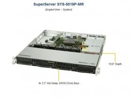 "Supermicro 1Ru Superserver 5019P-Mr Barebone Server Single Scaleable Socket Lga3647 4 X 3.5"" Hdd"