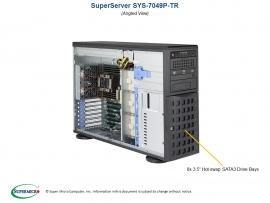 Supermicro Superserver 7049p-tri 4u Tower Dual Socket Lga3647 16x Dimm Intel C621 2 X Gb Lan Impi