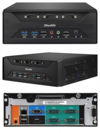 "Shuttle Xc60j Fanless 3l Pc - Celeron J3355 2x Ddr3l Sodimm 1x 2.5 Or 3.5"" Hdd M.2 8x Rs232 1x"