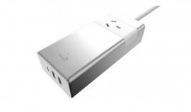 Aerocool Asa Aluminum Powerstrip 1 Outlet 1 Typec 5v/ 3.0a 2 Usb Charging Port 5v/ 2.4a