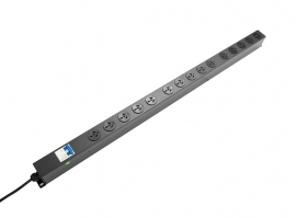 Powershield 15 Way Vertical Pdu With 15 Australian Sockets 10A Input Rpr-15Vmcb