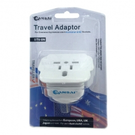 Sansai Travel Adapter For 240V Equipment From Britain/ Usa/ Europe/ Japan/ China/ Hongkong/ Singapore/