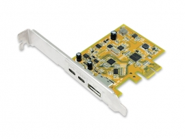 Sunix Usb 3.1 10g & Displayport Alt-mode Pci Express Host Card With Dual Usb Type-c Ports Upd2018