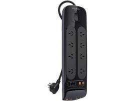 Belkin 8-way Surge Protector W/ Tel Av & F-type 3m Cord Life + $250k Wty Bv108130au3m