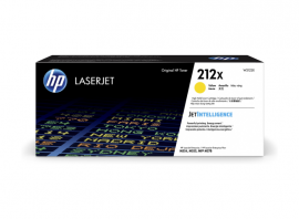 HP 212X YELLOW HIGH YIELD TONER - APPROX 10K PAGES - FOR M554, M555, M558 SERIES W2122X