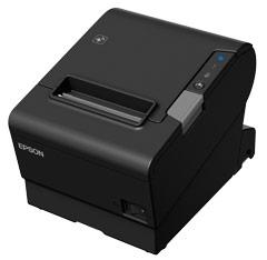 Epson Tm-t88vi-241 Receipt Printer Black Serial + Built-in Ethernet & Built-in Usb With Power Supply.