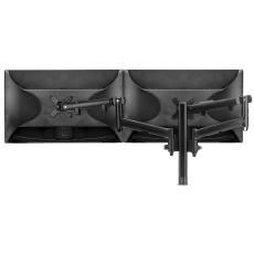Atdec AWM Dual monitor arm solution - dynamic arms - 400mm post - bolt - black (AWMS-2-D40G-B-B)