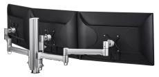 Atdec AWM Triple monitor arm solution - 710mm & 130mm articulating arms - 400mm post - F Clamp - black (AWMS-3-137140F-B)