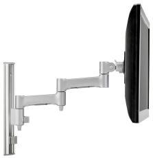 Atdec AWMS-46W35 Single monitor arm channel wall mount Silver (AWMS-46W35-S)