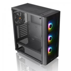 Thermaltake Mid Tower Case : V250 TG ARGB Tempered Glass, 3x ARGB 120mm Fan, 1x 120mm Fan, 1x USB 3.0, 2x USB 2.0, Support ATX/Micro-ATX/Mini-ITX (CA-1Q5-00M1WN-00)
