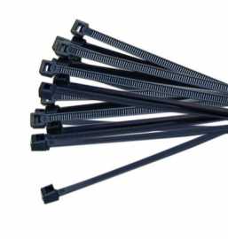 Generic 4.8x200-BLACK-50 Cable Ties: 4.8 x 200mm Black 50pcs