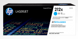 HP 212X CYAN HIGH YIELD TONER - APPROX 10K PAGES - FOR M554, M555, M558 SERIES W2121X