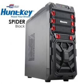 Huntkey Spider Black Gaming Case (no Psu) Cashunspiderblk-1