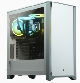Corsair 4000D Tempered Glass Mid-Tower Case, White (CC-9011199-WW)