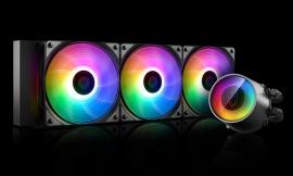Deepcool CASTLE 360 RGB V2 CPU Liquid Cooler Intel LGA2066/2011-v3/2011/1151/1150/1155/1200/1366 AMD TRX4 TR4 AM4 AM3+ AM3 AM2+ FM2+ FM1 DP-GS-H12AR-CSL360V2