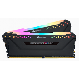 CORSAIR VENGEANCE RGB PRO 64GB (2 x 32GB) DDR4 DRAM 3200MHz C16 Memory Kit — Black (CMW64GX4M2E3200C16)