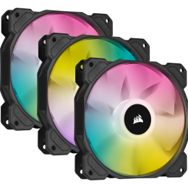 Corsair SP120 RGB ELITE, 120mm RGB LED Fan with AirGuide, Triple Pack with Lighting Node CORE CO-9050109-WW