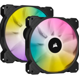 Corsair SP140 RGB ELITE, 140mm RGB LED Fan with AirGuide, Dual Pack with Lighting Node CORE (CO-9050111-WW)