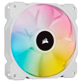 Corsair White SP120 RGB ELITE, 120mm RGB LED Fan with AirGuide, Single Pack CO-9050136-WW