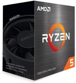 AMD Ryzen 5 5600X Zen 3 CPU 6C/12T TDP 65W Boost Up To 4.6GHz Base 3.7GHz Total Cache 35MB Wraith Stealth Cooler (100-100000065BOX-P)