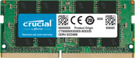 CRUCIAL 8GB DDR4 NOTEBOOK MEMORY, PC4-21300, 2666MHz, UNRANKED, LIFE WTY CT8G4SFRA266