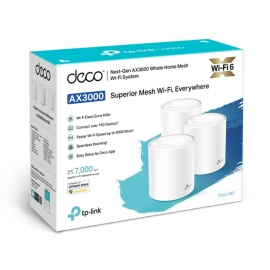 Tp-Link AX3000 Whole Home Mesh Wi-Fi 6 System (Decox60(3-Pack))