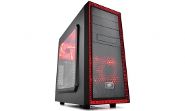 Deepcool Black & Red Tesseract Sw-rd Mid Tower Chassis (usb3) Dp-atx-tsrbkrd