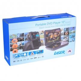 "Laser Portable Dvd Player 10"" With Bonus Pack (headrest Mounts And Earphones) Dvd-pt-10c"