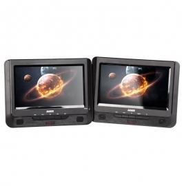 "Laser Dvd Player Dual 9"" In Car With Bonus Pack (headrest Mounts And Earphones) Dvd-pt9-dualc"