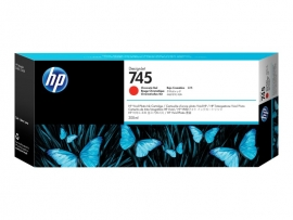 HP 745 300-ML CHROMATIC RED DESIGNJET INK CARTRIDGE - Z2600/Z5600 F9K06A