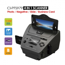 Digitalk 4-in-1 Combo 14mp Photo/ Film/ Slide/ Business Card Scanner Eledigpfscanner4in1